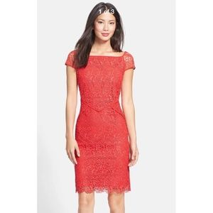 NEW Nue by Shani Neon Lace Dress Red in Size 4